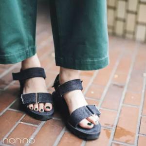 新木優子の足ネイルがかわいい