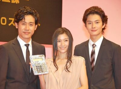 岡田将生と大泉洋と篠原涼子の身長比較