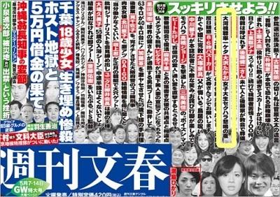 2015年5月に岩田絵里奈と大沢たかおに対する週刊文春による文春砲