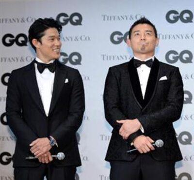 鈴木亮平と五郎丸の身長比較